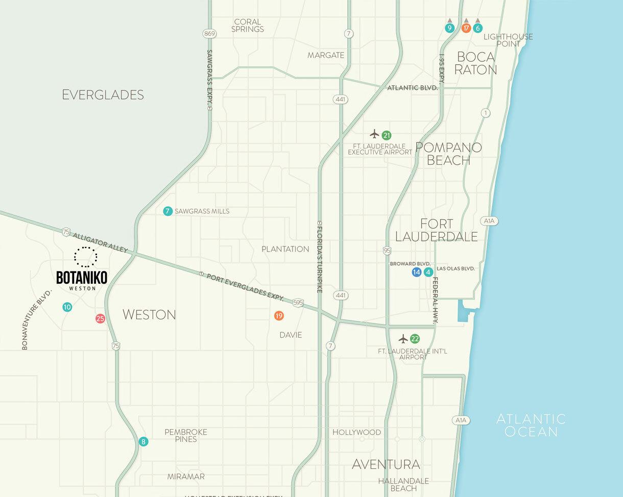 Map of Weston